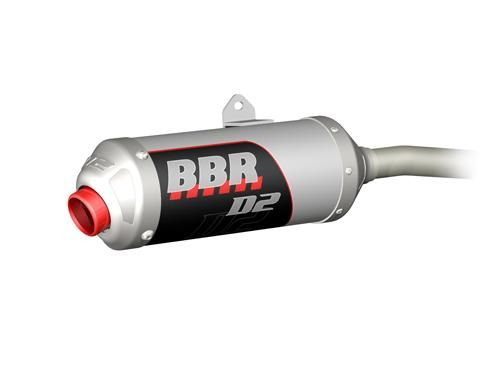 Exhaust System - D2, Silver / TTR125 00-Present