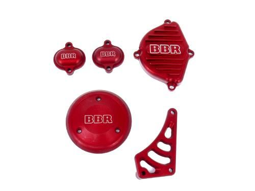 Engine Cover Set - Billet, Red / KLX/DRZ110, 02-09