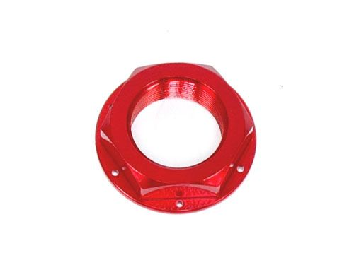 Steering Stem Nut - Billet Aluminum, Red / (M22x1.0)