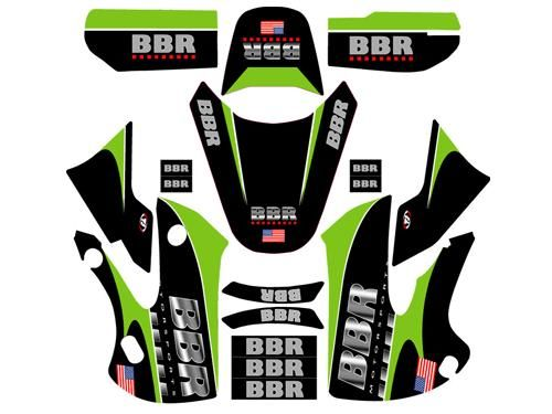 Graphics Kit - BBR Chrome, W/Seat Cover / KLX/DRZ110, 02-Present