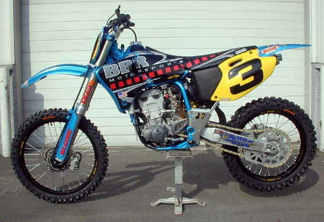 US Open YZ400 Vegas Race Bike - Left Side