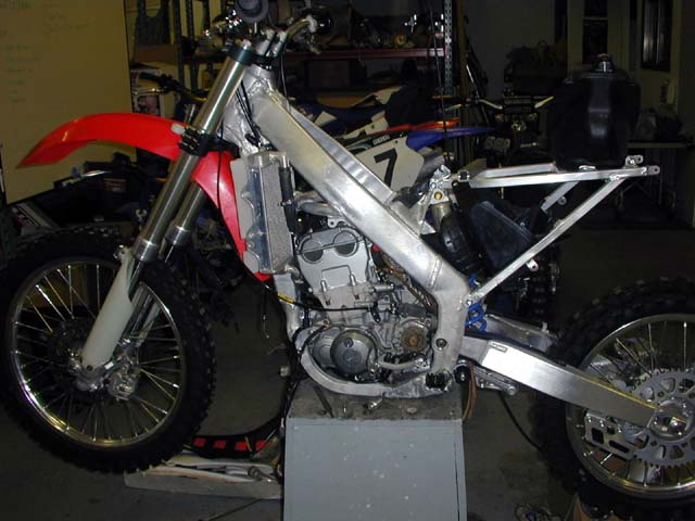 YZ426 Aluminum Perimeter Frame Conversion in Process