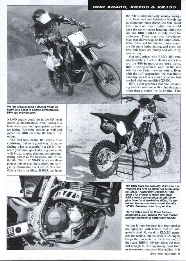 BBR Motorsports, Inc - If NASA Made Dirt Bikes