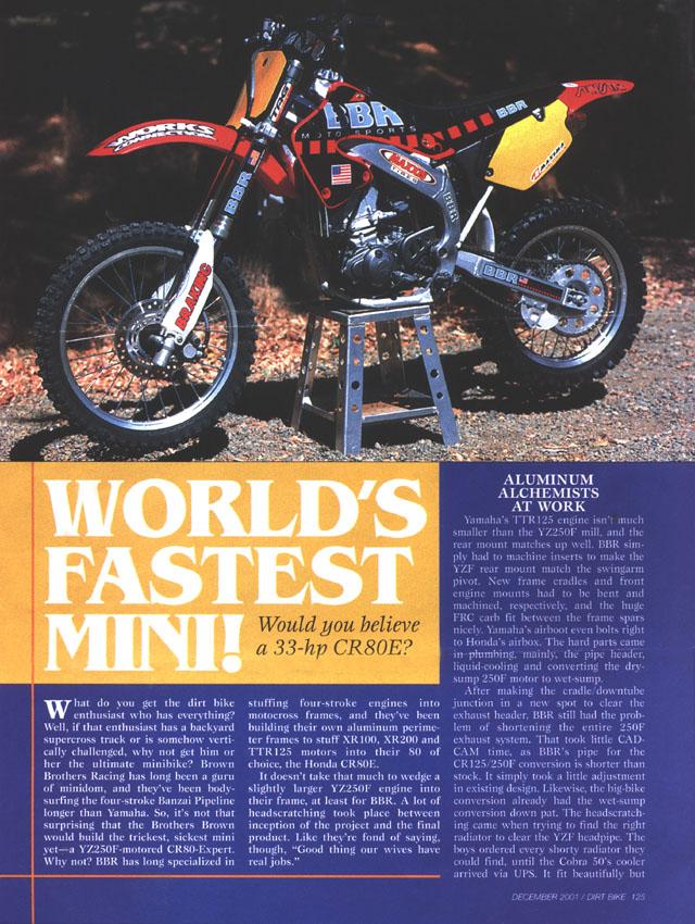 BBR Motorsports, Inc - Dirt Bike Dec 2001