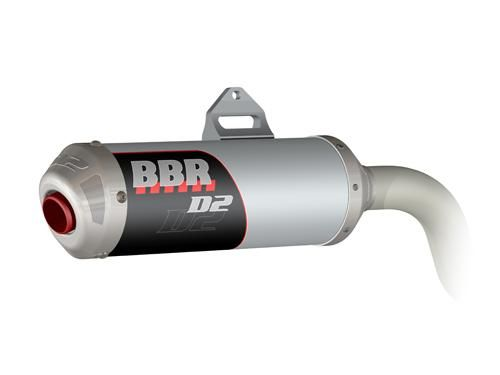 Exhaust System - D2, Silver / CRF150F and  CRF230F
