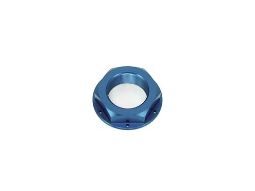 Steering Stem Nut - Billet Aluminum, Blue / (M22x1.0)