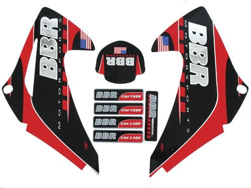 Graphics Kit - BBR Chrome, W/Seat Cover / CRF150/230F, 03-07