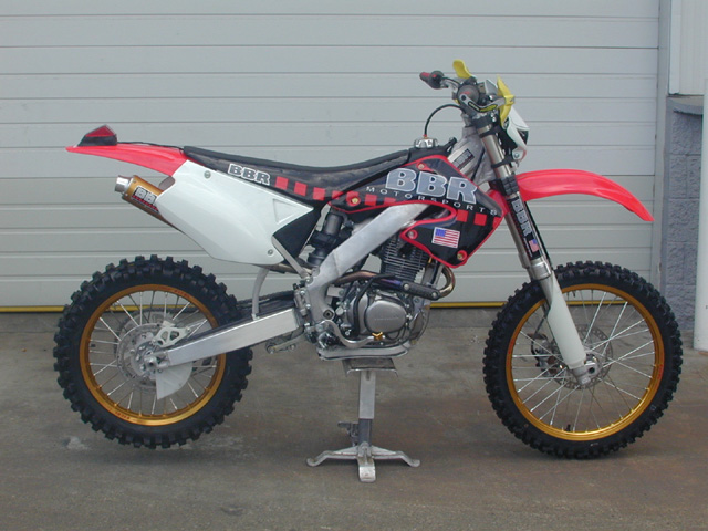 XR200 Stuffed into a CR125R