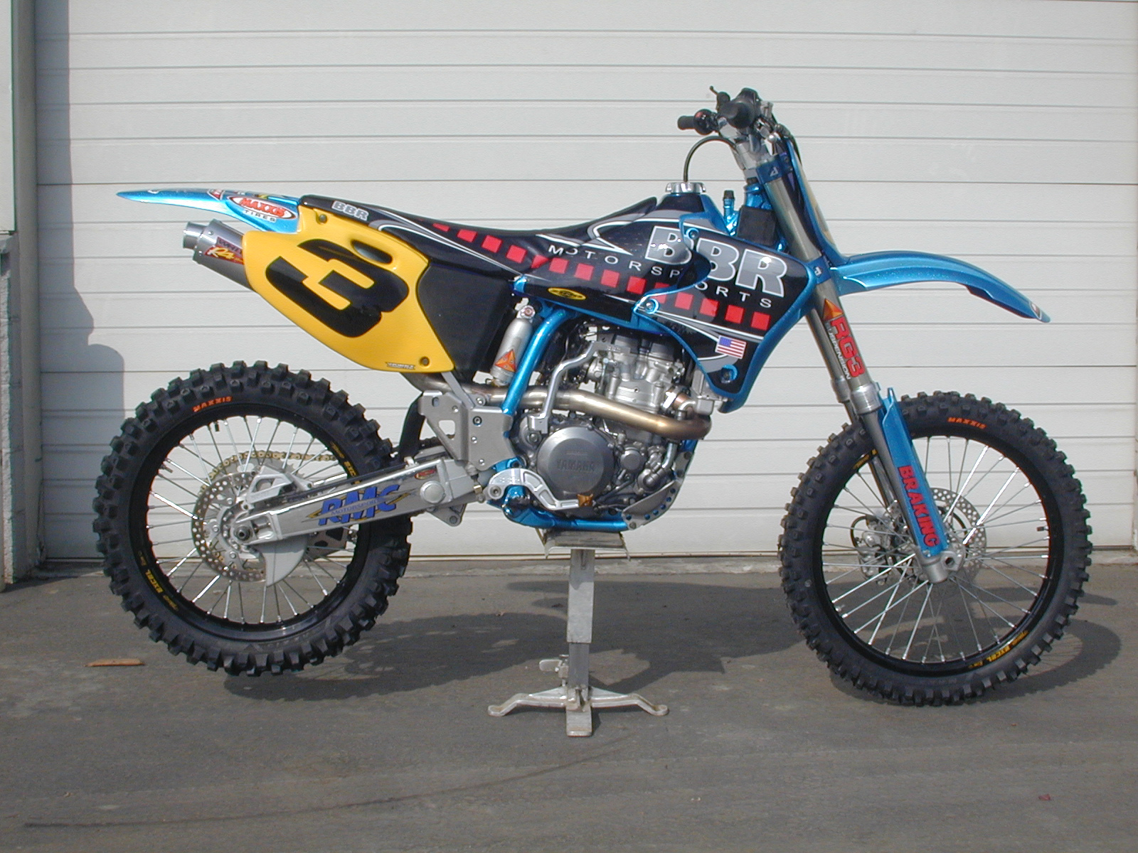 US Open YZ400 Vegas Race Bike - Right Side