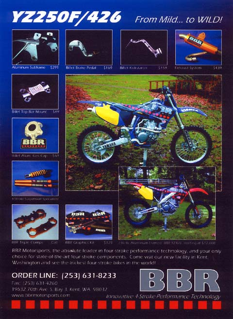 Magazine Ad for YZ250/426 parts