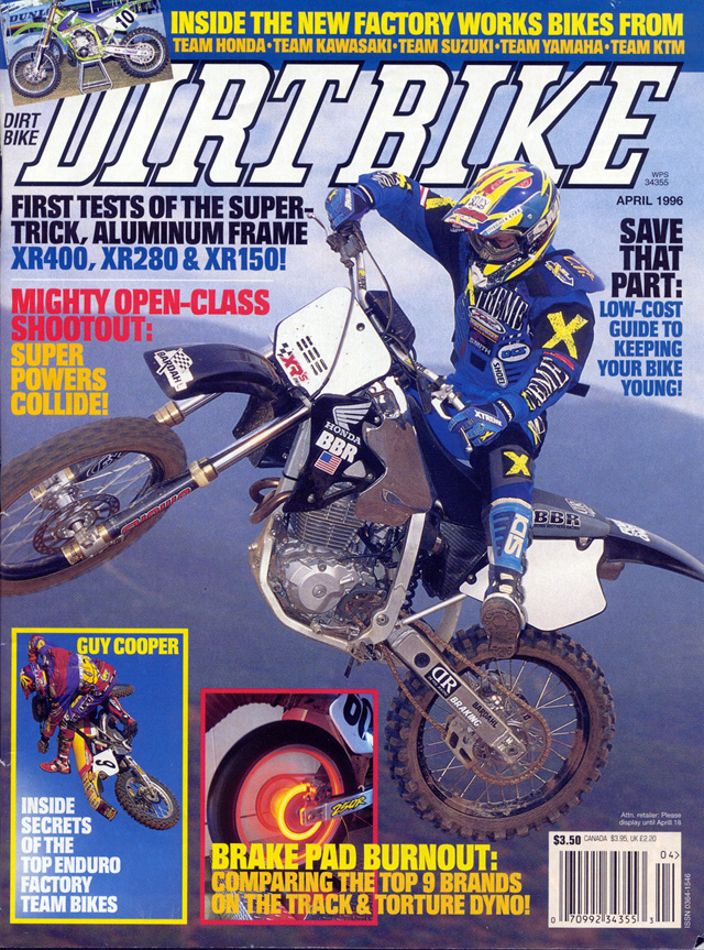 BBR XR400 Dirt Bike Magazine Cover